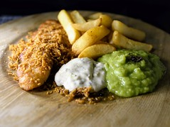 Breaded Haddock with Triple Cooked Chips, Mushy Peas and Tartar Sauce (Tony Worrall) Tags: add tag ©2018tonyworrall images photos photograff things uk england food foodie grub eat eaten taste tasty cook cooked iatethis foodporn foodpictures picturesoffood dish dishes menu plate plated made ingrediants nice flavour foodophile x yummy make tasted meal nutritional freshtaste foodstuff cuisine nourishment nutriments provisions ration refreshment store sustenance fare foodstuffs meals snacks bites chow cookery diet eatable fodder comfort chips fries fried fish breaded haddock triple mushy peas tartar sauce