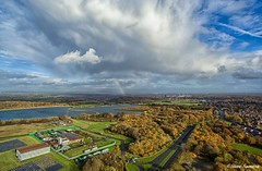 Rainbow (Steve Samosa Photography) Tags: cloud's droneview droneshot drones aerial sthelens autumncolours autumn rainbow prescot england unitedkingdom gb