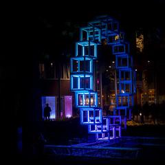 The  Spectator, Glow Eindhoven (Wim van Bezouw) Tags: glow eindhoven sony ilce7m2 night light sculpture