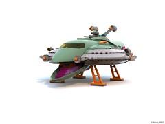 17 RETRO SPACE HERO'S SPACESHIP - Landing Gears and Ramp Down (Nuno_0937) Tags: lego ideas classic space spaceship ship moc retro hero minifigure