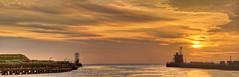 (dickie44) Tags: sunrise riveryare norfolk port harbour pano landscape panorama nikon hdr luminar gorleston sea