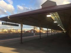 Platform, The Palatial Maryborough Railway Station, 1890 (d.kevan) Tags: stations platforms pillars roofs lights decorativedetails victoria buildings rails signs maryborough maryboroughrailwaystation clocks 1890