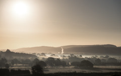 Misty sunrise (Chris Sweet Photography) Tags: mist misty fog landscape sunrise goldenhour diffused somerset countryside nikon tamron