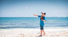 The next baseball star. (catrall) Tags: mexico yucatan quintanaroo rivieramaya tulum beach sand sky sea ocean boy kid sport sports baseball star training cap waves nikon d750 fx sigma sigmalens 24105 april 2018