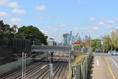 View towards CBD from Wooloowin Station, Brisbane (philip.mallis) Tags: brisbane wooloowin wooloowinrailwaystation railwaystation trainstation railway city view
