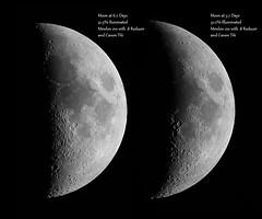 Two Days (tbird0322) Tags: moon luna lunar astronomy astrophotography takahashi mewlon solarsystem