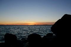 Time to Say Goodbye (docwiththecamera) Tags: horizon rock stone light nordic sunset ocean sea
