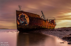 ashore (1copperhead) Tags: yellow sunset wreck sea wexford portlairge saltmills cowexford ireland nisi d7200 nikon longexposure ashore ship boat shipwreck southeast rust golden newross