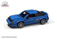Toyota Celica T160 SX Liftback (1985) (lego911) Tags: toyota t160 cleica sx liftback 1986 3sge twincam coupe 1980s auto car moc model miniland lego lego911 ldd render cad povray japan japanese jdm biginjapan 35 35th build challenge lugnuts 11 11th anniversary birthday popupheadlamps foitsop