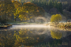 Brathay whispers. (akh1981) Tags: autumn riverbrathay beautiful sunrise cumbria unesco walking water reflections lakedistrict nikon nisifilters trees nationaltrust nationalpark nationalheritage nationalheritagesite uk mist fog benro