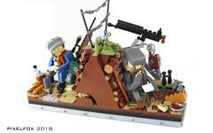 Briefe an ihre Lieben (Pixel Fox) Tags: lego diorama vignette world war ww1 trench