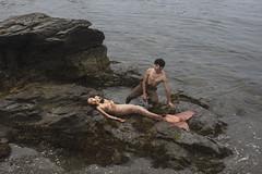 Where sea meets sky. (aleah michele) Tags: magical magic mermaid man story sad shore sea siren narrative beach ocean