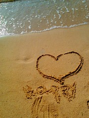 Happy!!     Lenovo_A1000_IMG_20180903_091338 (amalia_mar) Tags: smileonsaturday happywords happy heart coeur sea sand beach coast anniversary love message drawing smile happiness