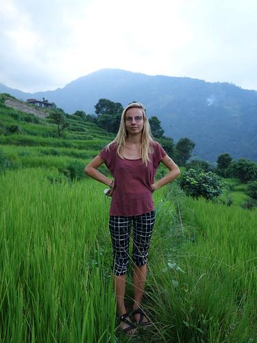 Julie dans les rizières