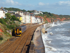 150238 Dawlish (3) (Marky7890) Tags: gwr 150238 class150 sprinter 2f25 dawlish railway devon rivieraline train