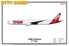 Boeing B777-300ER - TAM Airlines (The Art of Flying) Tags: aircraft airliner airplane boeing b777300er b773er b777 tripleseven aviation aviationenthusiast artprint theartofflying planes widebody illustration tam tamairlines