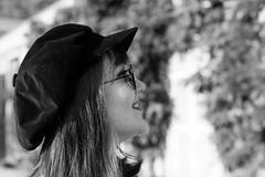portrait (gotan-da) Tags: blackwhite schwarzweiss noiretblanc blackandwhite bw monochrome model modelo female femme frau beauty natural brunette sensual makeup eyes lips girl woman portrait ritratto retrato canon belle bellezza erotic donna