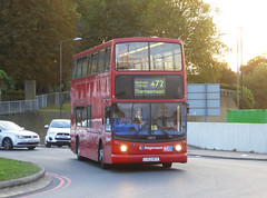 SLN 17875 - LX03NFZ - WOOLWICH FERRY - FRI 5TH OCT 2018 (Bexleybus) Tags: stagecoach london woolwich se18 ferry roundabout selkent adl dennis trident alx400 alexander tfl route 472 17875 lx03nfz