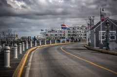 Road to the Dock (donnieking1811) Tags: massachusetts provincetown capecod road americanflags building posts cruiseship signs outdoors sky clouds hdr canon 60d lightroom photomatixpro
