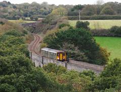 150247 Carnon Viaduct, Perranwell (Marky7890) Tags: gwr 150247 class150 sprinter 2f82 perranwell carnonviaduct railway cornwall maritimeline train