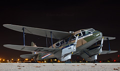 G-AGJG - De Havilland DH-89A Dragon Rapide - NHT (Seán Noel O'Connell) Tags: gagjg dehavilland dh89a dragonrapide rafnortholt nht egwu nightphotography vintage scottishairwaysltd aviation avgeek aviationphotography planespotting