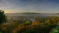 JHG_GFX50s-012716-Pano.jpg (Julian Gazzard) Tags: grass autumn saints color church nature dawn panorama background early colour morning downs parish scenic dew outdoors doomsday village uk view water mist trails park east spire damp con sky south autumnal butser noperson cold clear sun backlit national silhouette fall travel meon landscape hampshire stitched fog light all hill mountain