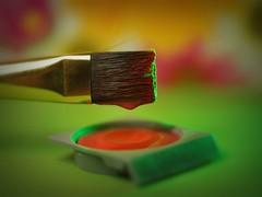 color'n'brush (zdm69) Tags: pinsel brush farbe color orange art macro closeup nahaufnahme makro mm macromondays