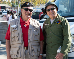 Larry Dietz and Jack Ford before parade (American Red Cross of Silicon Valley) Tags: americanredcross siliconvalleychapter veteransdayparade sanjose markbutler