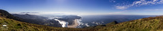 A View from Cascade Head (allentimothy1947) Tags: 4663 pano cascade head lincoln city oregon pacific salmon river view beach clouds grass high hill landscape mountains ocean panoramic rocks sky skyline surf water