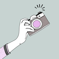 Devices (Nuestra vida con Arya) Tags: camera cartoon design doodle drawing hand hobby illustration lifestyle oldfashioned photographer retro showing snap vector vintage photo film graphic icon symbol isolated analog digital