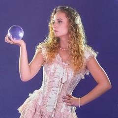 Lacy Crystal Ball 1358 A (jim.choate59) Tags: jchoate on1pics lacy magic crystalball corset fashion fantasy portrait