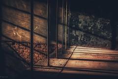 Treppenhaus... (hobbit68) Tags: sun sunshine treppen treppenhaus steps industriegebiet industry industrie geländer shadow shadows darkness dark ziegel