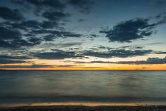 Last Splash of Lake Michigan Light (matthewkaz) Tags: christmascove christmascovebeach sunset sky clouds lakemichigan lake water reflection reflections greatlakes puremichigan leelanau leelanaupeninsula summer northport michigan longexposure 2017