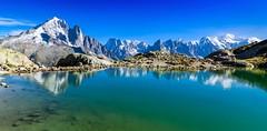 Lac Blanc (sylviafurrer) Tags: mountain mountainlake bergsee berge lacblanc hautesavoie france frankreich chamonix aiguilleverte montblanc panorama