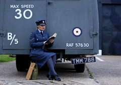 'Waiting' (AndrewPaul_@Oxford) Tags: raf east kirkby lincolnshire aviation heritage centre 1940s womens royal air force reenactors reenactment environmental portrait natural light timeline events