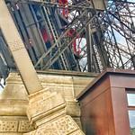 Paris  France  -  Eiffel Tower Red Elevator - Iconic Landmark thumbnail