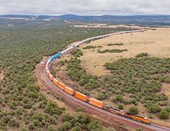 BNSF 6377 QCHIPHX6-03 (Ray C. Lewis) Tags: railroad transportation trains railway arizona northernarizona storm light clouds sky peavine phoenixsub daze ash fork