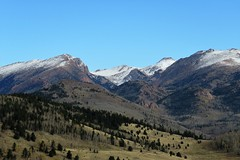 Up at Victor Pass a Hint of Winter (Patricia Henschen) Tags: mountains mountain mountainpass victor colorado victorpass clouds pikespeak rural autumn snow pass highcountry tellercounty roadside