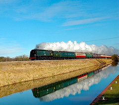 tangmere_at_crofton somerset explorer (m.c.g.o) Tags: the somerset tangmere battle britain class southern railway british railways crofton wiltshire kennet avon canal pumping station 2008 february 14th explorer 34067