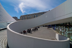 _DSC4864 (durr-architect) Tags: niemeyer cultural centre lehavre france modern architecture building volumes curves perret world heritage list maison culture veil concrete painted white volcan hyperbolic public library theatre
