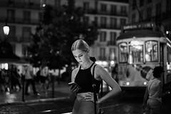Lissabon Gente de Lisboa 46 bw (rainerneumann831) Tags: bw blackwhite street streetscene ©rainerneumann urban monochrome candid city streetphotography blackandwhite frau gentedelisboa lisboa lissabon