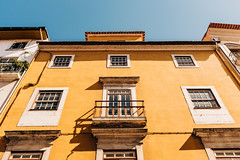 Yellow Wall on Blue Sky (Poul_Werner) Tags: coimbra portugal vitusrejser ferie rejse travel coimbramunicipality coimbradistrict pt