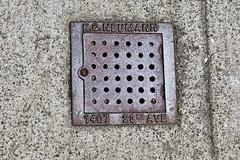 K.G. Neumann, San Francisco, CA (Robby Virus) Tags: sanfrancisco california sf ca sewer vent cover kg neumann metal street sidewalk cement concrete pavement plumber
