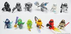Power Armor Collection (WerferOfFlammen) Tags: lego minifigures minifigs custom moc customs power armor collection series theme figures chromed toys brick chromeblockcity