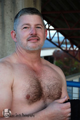 Cooper (Levi Smith Photography) Tags: man men mans mens fashion portrait shirtless hairy chest salt pepper white beard hair gray handsome hot muscle shirt arms guy daddy woof ears