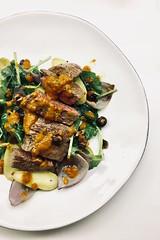 Seared steak (Alice Olive) Tags: aliceolive soupkitchen food steak potato pepper plated