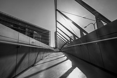 DSC00651 (Damir Govorcin Photography) Tags: light shadows walking bridge darling harbour sydney blackwhite monochrome leading lines composition architecture building wide angle sony a7rii zeiss 1635mm