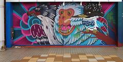 Security door artwork, Yamaguchi Shotengai 山口 (Anaguma) Tags: japan honshu chugoku yamaguchi arcade door painting