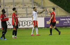 Lewes 2 Kings Langley 1 FAC replay 26 09 2018-641.jpg (jamesboyes) Tags: lewes kingslangley football nonleague soccer fussball calcio voetbal amateur facup tackle pitch canon 70d dslr
