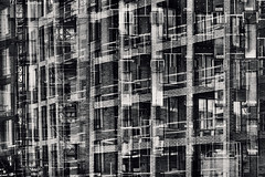 Structures 72 (pni) Tags: monochrome constructionssite building multiexposure multipleexposure tripleexposure sompasaari suparn helsinki helsingfors finland suomi pekkanikrus skrubu pni